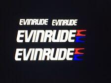 4 - Evinrude Outboard marine vinyl decals 2 - 15.5 inch