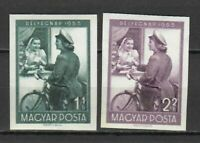 S22348) Hungary 1953 MNH Stamp Day 2v Imperforated