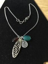 """Lucky Brand 21-1/2"""" Butterfly Wing, Snake And Bead Charm Necklace"""