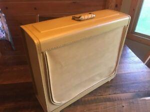 Vintage Platt Custom Made Suitcase Travel Luggage 1960 Mustard Yellow Prop Photo