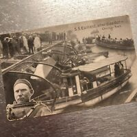 S S Eastland After Disaster Chicago River Postcard Unposted c1915