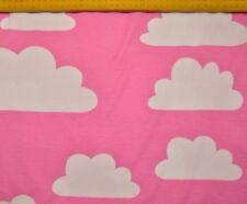 Stoff Jersey Wolken rosa pink Baumwolle Himmel 50 x 170 cm 14€/m