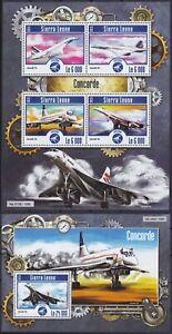 Sierra Leone  6269 - 6272 KB + Block 788 (6273) **, Concorde (22 ME)