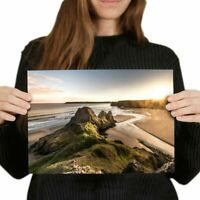 A4 - Three Cliffs Gower Peninsula Wales Poster 29.7X21cm280gsm #16374