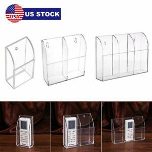 TV Remote Control Holder Wall Mount Acrylic Organizer Stand Box Storage USA