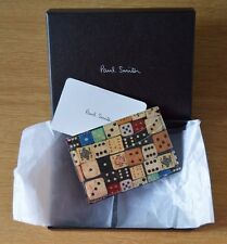 PAUL SMITH Men's black dice game card case holder wallet