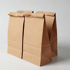 More details for 100x brown paper bags - sandwich lunch take away food bags/ gift bags