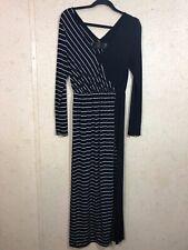 6c1a458b49 New Romatics Free People Women s Size M Long Sleeve Maxi Dress Leg Slit  Striped