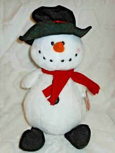 "GANZ 16"" CUDDLY SOFT SIMON SNOWMAN PLUSH STUFFED ANIMAL DOLL NEW"