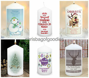 PERSONALISED CHRISTMAS XMAS CANDLES Novelty Candle Gifts Idea for Her Him Women