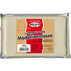 Meyco Hobby Modelliermasse 500 g Ton weiß lufttrocknend Knetmasse zum Basteln