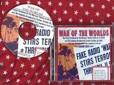 WAR OF THE WORLDS CD Orson Welles original Mercury Theater radio show 1938 otr