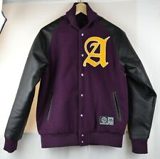 Majestic Colesmead Letterman Varsity Jacket Anaheim Ducks S Small Retro Vintage