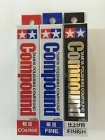 Tamiya Polishing Compound Coarse Fine Finish Applicator 87068 87069 87070 87090