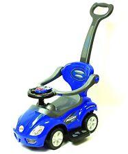 Deluxe Mega 3 in 1 Car Children's Toy Stroller & Walker Blue, w/ Working Horn!!
