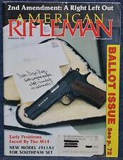Magazine American Rifleman, FEBRUARY 1993 !Rocky Mountain Arms 1911A1-LH PISTOL!