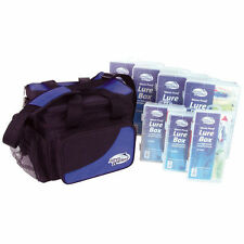 Jarvis Walker Soft Sided Storage Bag With 7 Lure Boxes Fishing Tackle