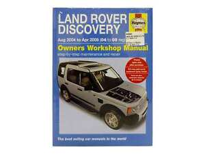Haynes Workshop Manual suitable for Land Rover Discovery 3 2.7L TDV6 2004-2009