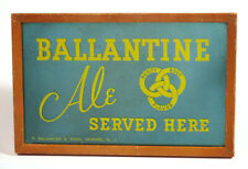 1950s Scarace Ballantine Ale Beer Advertising Mirror Sign Teal Turquoise 3 Rings