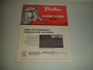 VINTAGE 1966 PHILADELPHIS PHILLIES VS SAN FRANCISCO PROGRAM SCORE CARD