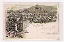 AK- Litho - Wernigerode - Panorama - gel. 1898 - Leipzig