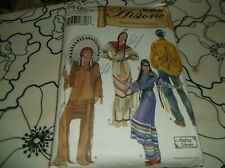 Historic Native American Clothes sewing  xs, s, m, l, xl  M & W Pattern Costumes