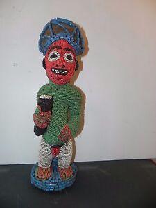 Arts of Africa - Bamileke Beaded Royal Standing Figure - Cameroon
