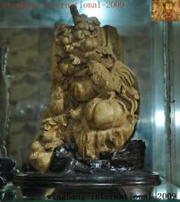 38cm Agarwood wood China carved Zodiac animal Chicken Fowl chick cock hen statue
