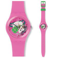 SWATCH flowerfull Reloj gp147 Análogo esqueleto de reloj plástico rosa
