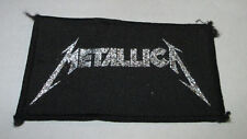 Metallica Patch Collectable Vintage Woven English Picture