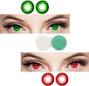 Green, Red Monthly Color eye disposable eye makeup beauty partywear