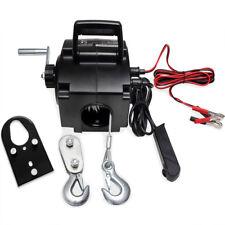Treuil électrique 12V Câble de tension Charge max 907kg avec Crochets Manivelle