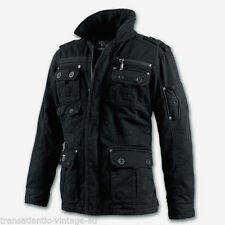 Hip Length Cotton Zip Military Coats & Jackets for Men