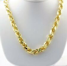 """Diamond Cut Rope Chain Necklace 26"""" 11.50mm 275 gram 14k Yellow Solid Gold Men's"""