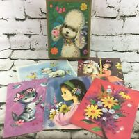 Vintage Carousel Get-Well Greeting Cards Lot Of 6 In Box By Sunshine Card Co