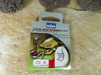DAIWA TOURNAMENT WURM WORM VORFACHHAKEN SNELLED HOOKS ANGELHAKEN VORFACH 60CM