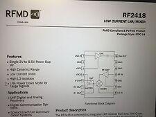 RFMD RF2418 Low Current LNA/Mixer Lot of 5