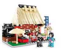 692PCS Mini Japanese City Street Market Shop Toy Building Blocks Bricks Gift BN