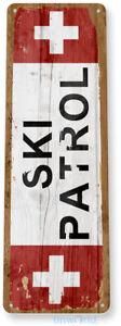 Ski Patrol Skiing Sign C501