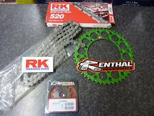 48T 13 RK Chain Green Renthal Sprocket Kit KXF 250 06-19 07 08 09 10 11 12 13 14