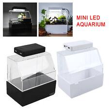 Micro Fish Tank Turtle Amphibious Horned Frog Bottom Filter Rearing Aquarium
