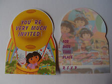 DORA THE EXPLORER BIRTHDAY PARTY INVITATIONS PK8 NEW!
