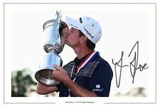 JUSTIN ROSE US Open Golf WIN 2013 FIRMATO Autograph Foto Stampa