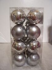 16 Silver Shatter Resist Christmas Ornament Decoration