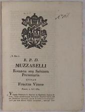 SENTENZA SACRA ROTA RIETI 1834 SAN MARTINO CATERINA TORRENTI CECCOTTI USUFRUTTO