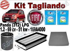 KIT TAGLIANDO OLIO SELENIA M.GAS 5W40 + FILTRI FIAT PANDA (312) 1.2 LPG 2012 ->*
