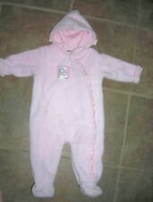 Snowsuit outerwear girls Pink by Happy Kids 3-6Mo excellent