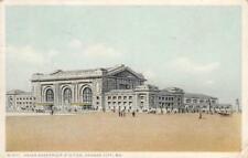 Union Passenger Station Kansas City, Mo Railroad Depot 1922 Fred Harvey Postcard