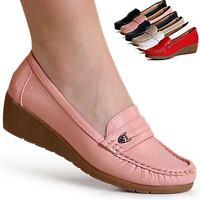 Damenschuhe Keilabsatz Ballerina Slipper Halbschuhe Slip On Wedges Pumps Trendy