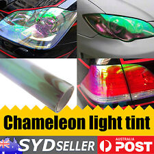 30cm x 40cm luxury Clear Chameleon Car Headlight Tail Light Tint Film DIY Sheet